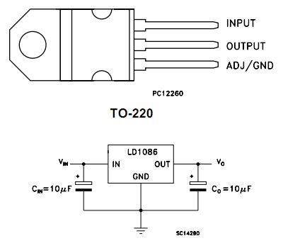 Pin ordering and example circuit